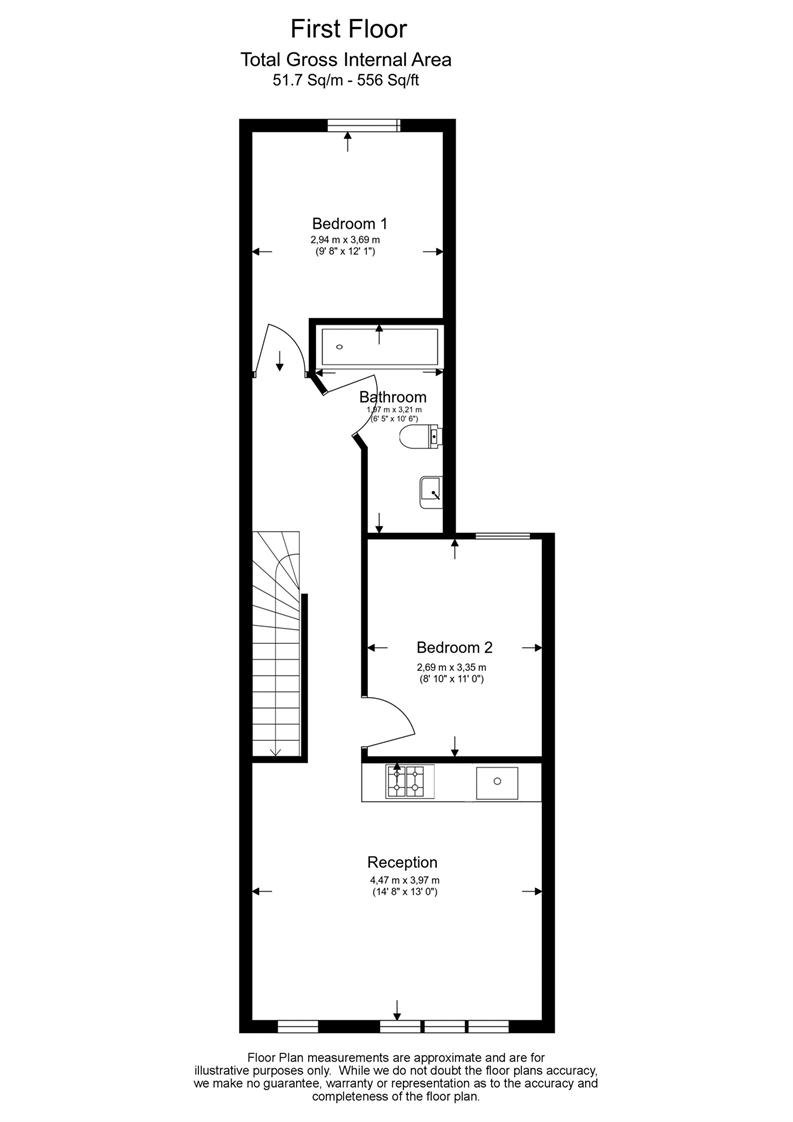 2 bedroom(s) apartment to sale in Third Avenue, London-Floorplan