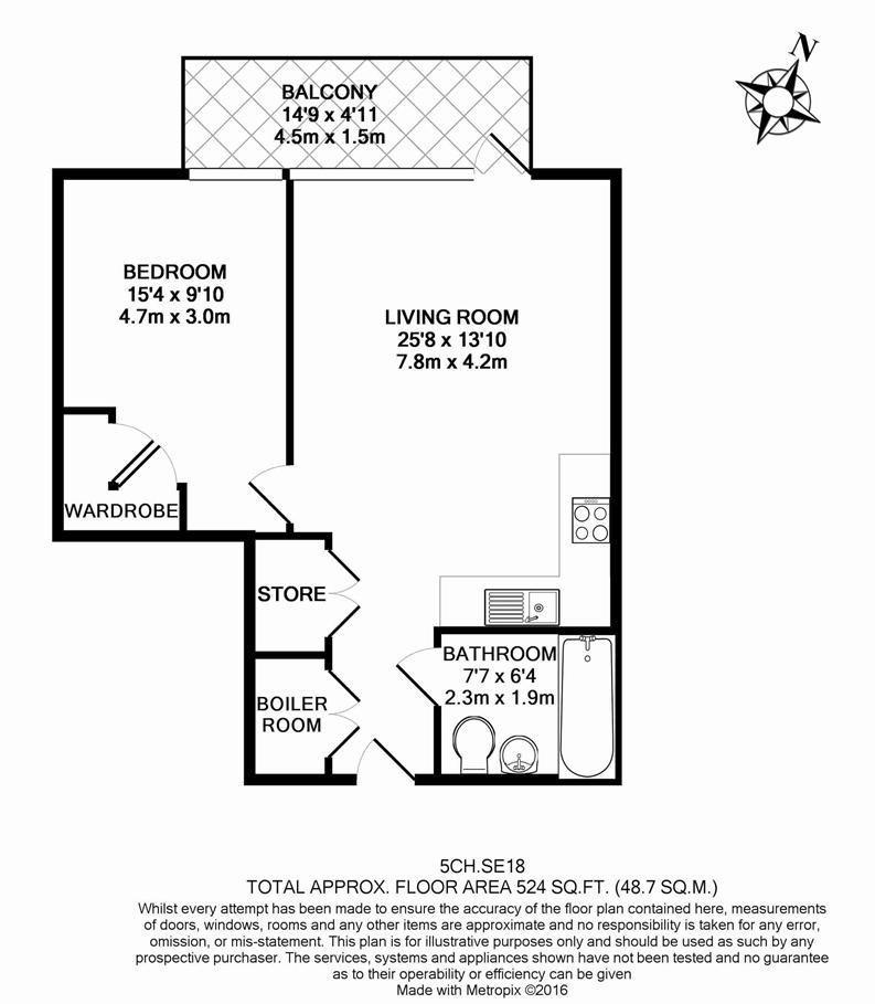1 bedroom(s) apartment to sale in Compton House, 7 Victory Parade, Plumstead Road-Floorplan