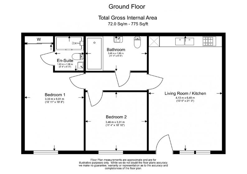 2 bedroom(s) apartment to sale in Vita Apartments, 1 Caithness Walk, Croydon, Surrey-Floorplan