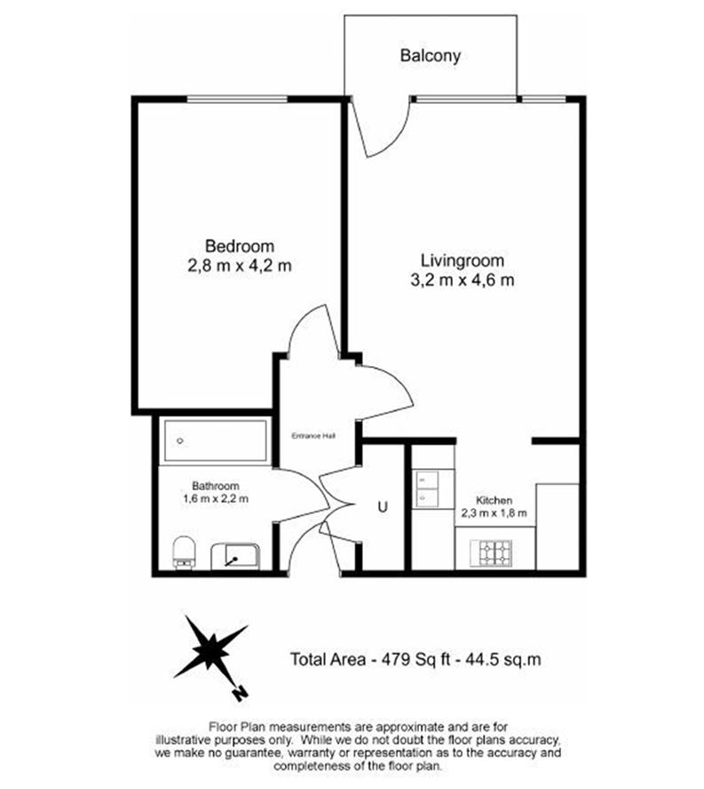 1 bedroom(s) apartment to sale in Times Square, City Quarter, London-Floorplan