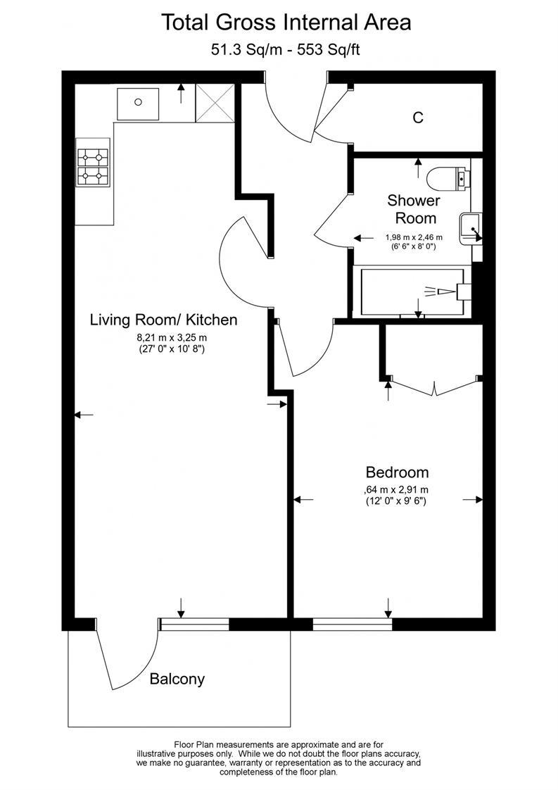 1 bedroom(s) apartment to sale in 3 Caversham Road, Beaufort Park, London-Floorplan
