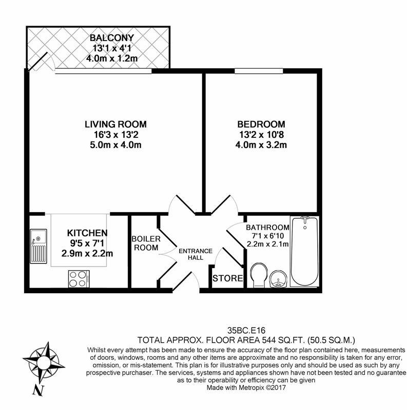1 bedroom(s) apartment to sale in Bawley Court, 1 Magellan Boulevard, London-Floorplan