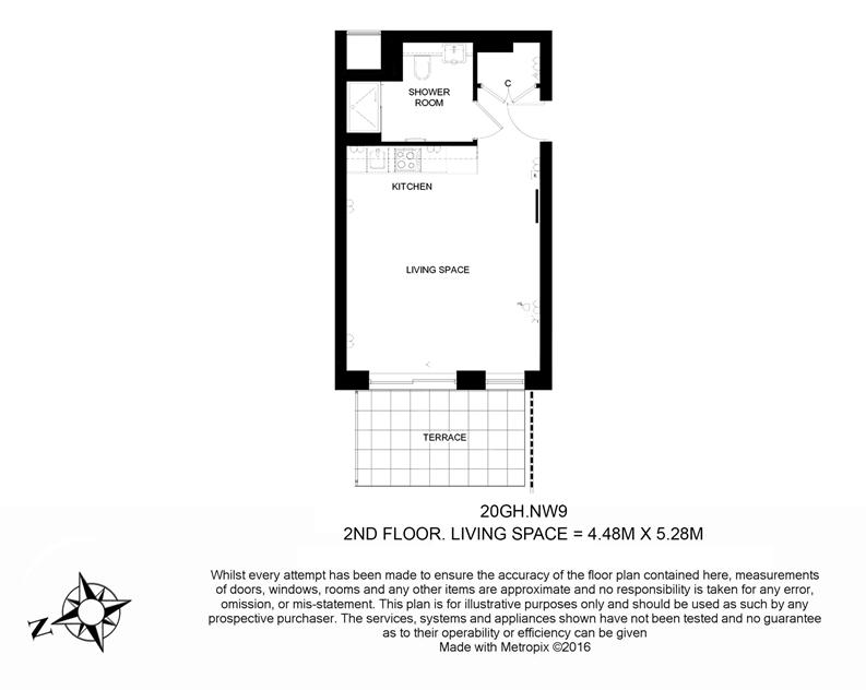 1 bedroom(s) apartment to sale in Golding House, 11 Beaufort Square, London-Floorplan