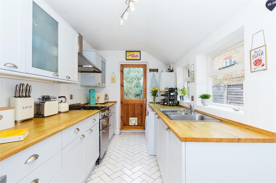 Extended gallery kitchen