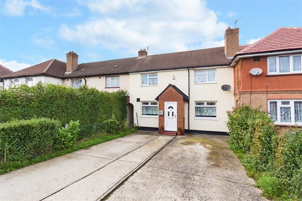 THREE DOUBLE bedroom terraced house situated in popular residential road nearby Stockly Park