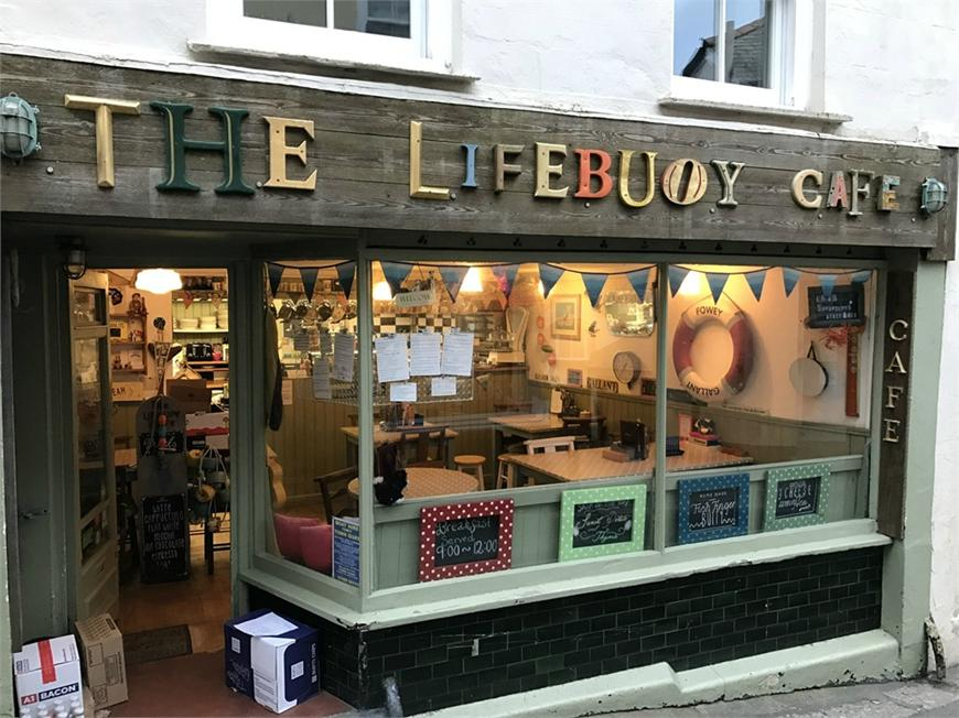 The Lifebuoy Cafe, Lostwithiel Street, FOWEY, Cornwall